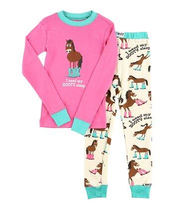 99212058b64a Pink  Booty Sleep  Pajama Set - Toddler