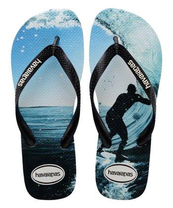 227af97d6b Black   Ocean Top Photo Print Flip Flop - Men