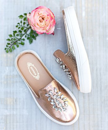 05020cf6635 Rose Gold Sia Slide - Girls