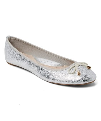 f53b5f479fca Silver Metallic Ballet Flat - Women