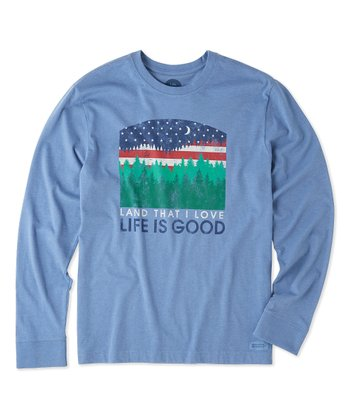 0fa5dbafa88 Heather Vintage Blue  Land That I Love  Long-Sleeve Crusher Tee - Men