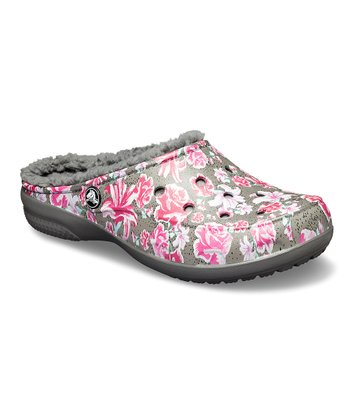24c3dcc9f6ab Slate Gray Floral Freesail Lined Graphic Clog - Women