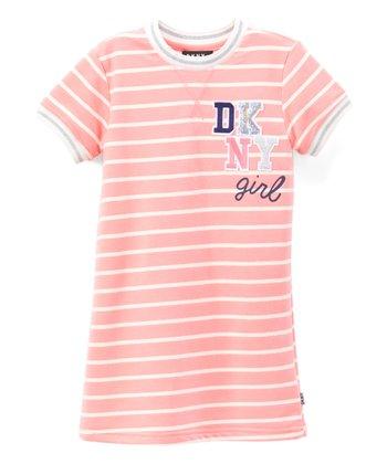 2b51786ae48 Geranium Pink Stripe  DKNY Girl  T-Shirt Dress - Girls · Mazarine DKNY  Ankle-Length Jeans - Girls · Medium Heather Gray Jacquard   ...