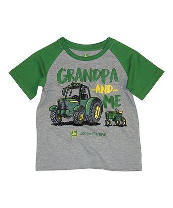 ca690484d7 Heather Gray & Green 'Grandpa & Me' Crewneck Tee - Infant