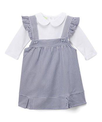 57eff3ab5 White Collar Bodysuit & Gingham Jumper - Infant