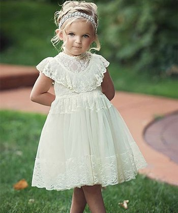 75fa702d90e ... Think Pink Bows 205 results. Off-White Lace Penelope A-Line Dress -  Infant   Toddler