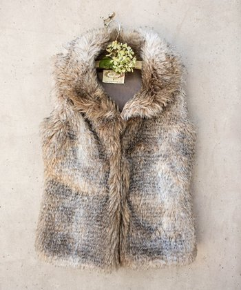 812f6140c7d Brown Faux Fur Belinda Vest - Toddler
