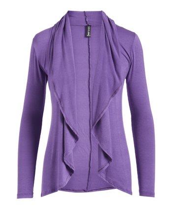 c4b5983659 Purple Open Cardigan - Women