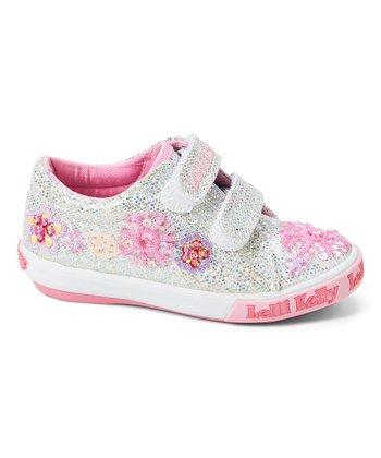 d1f310ba8f6a Silver Glitter Daisy Dolly Sneaker - Girls