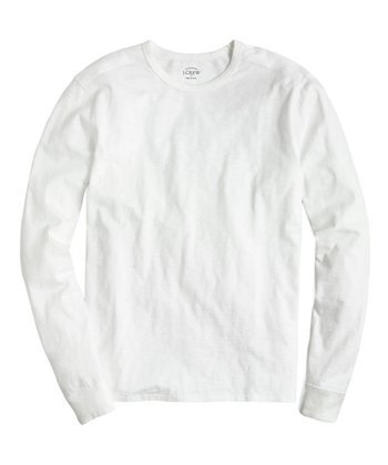 949645fb8c8e White Long-Sleeve Slub Tee - Men