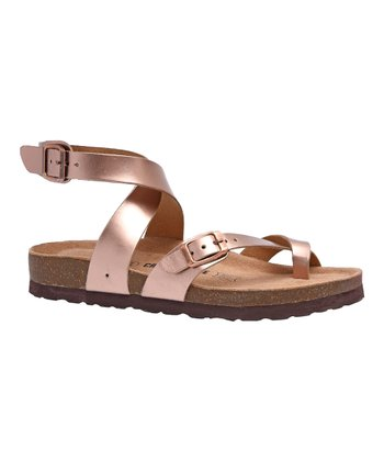 60c30cecc59 Gold Lara Leather Sandal - Women