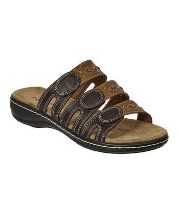 2d063143995fe Brown Three-Strap Cami Sandal - Women