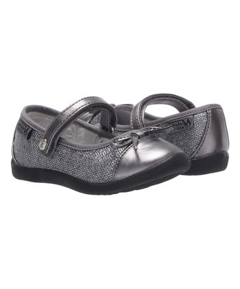 Pewter Bow Accent Lucetta Flat - Girls 944ed228fcc