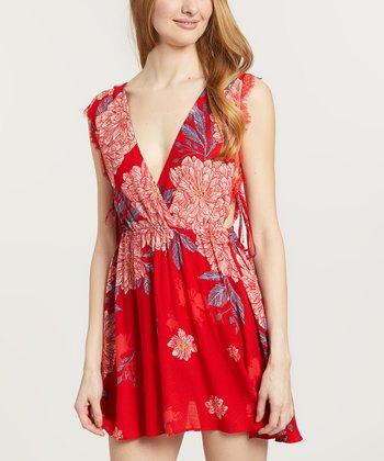 8403b6fbd98 Red Marine Lace-Trim Shift Dress - Women
