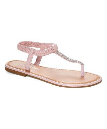 c5655b12c125 Blush Rhinestone T-Strap Thong Sandal - Women