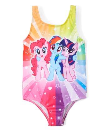 9be4545f93 My Little Pony Rainbow Stripe One-Piece Bathing Suit - Toddler. Vampirina  ...