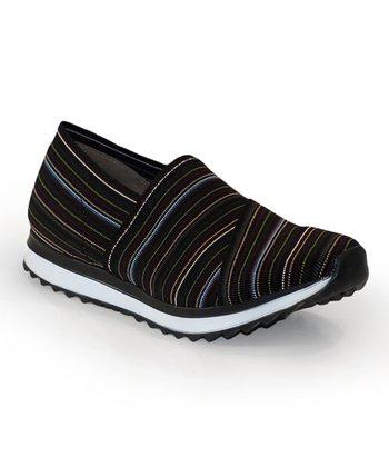 63eb656a8d6 Black   Blue Stripe Athena Slip-On Shoe - Women
