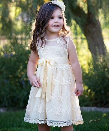 1ec3c7fba15 Champagne Lizzie Dress - Infant