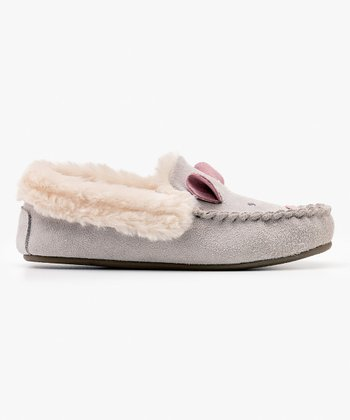 5b07f3e678d48 Gray Mouse Novelty Suede Slipper - Girls