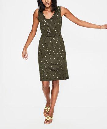 8c65703f17 Khaki Foil Spot Melinda Dress - Women