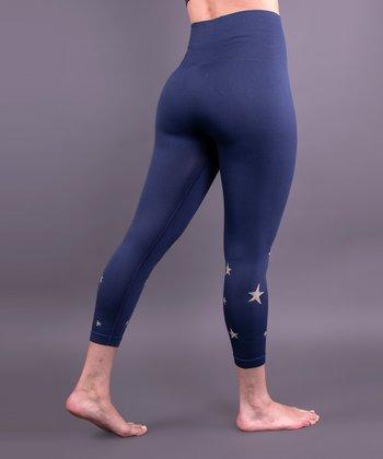 d47703f260 Midnight Navy Star Tummy-Control Seamless High-Waist Leggings - Women & Plus