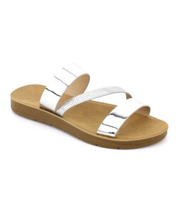 dacaff2aeb14 Silver Diagonal Band Delight Sandal - Women