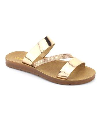 9f0b5e293735 Rose Gold Diagonal Band Delight Sandal - Women. «