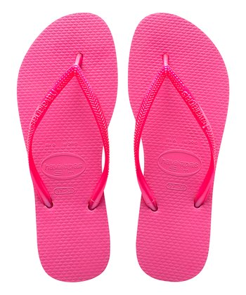 ce9d1f487 Shocking Pink Slim Flip-Flop - Girls