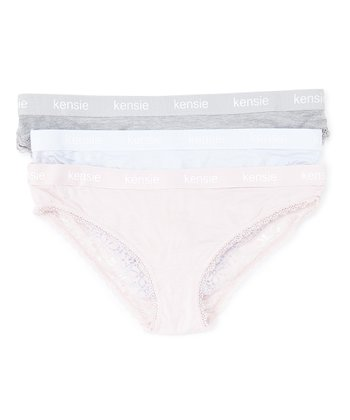 c789a58b4974 Heather Gray Lace-Accent Bikini Set - Women