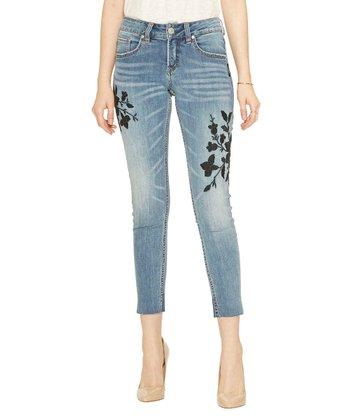 6fd75bf1140 Indigo Super Distressed Girlfriend Jeans - Women