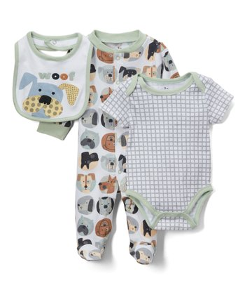 021ffd506 ... Mini B by Baby Starters 20 results. Green & White Dog Footie Set -  Newborn & Infant