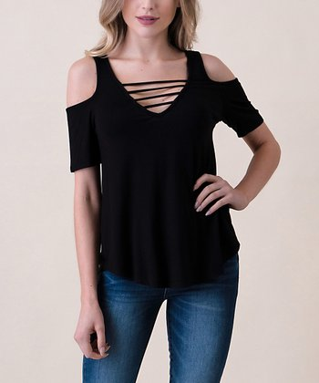 23a3e8c3df4a ... Hippie Chic 119 results. Black Cold-Shoulder Tee - Women