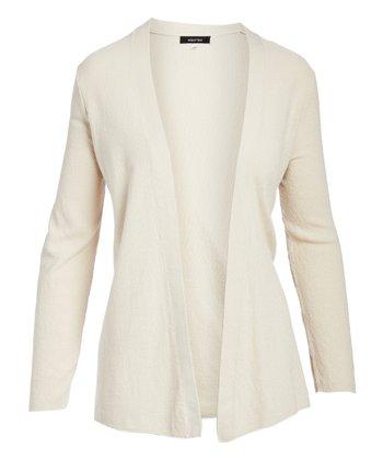 06c754a9d6386c Ash Blonde Long-Sleeve Open Cardigan - Women
