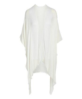 a653c0dfc White Fringe Millicent Kimono - Women · Black & White Abstract Lola  Reversible Kimono Vest ...