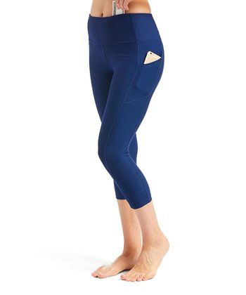 3c26836110 Empire Pocket-Accent Capri Leggings - Women. Indigo Tie-Dye ...