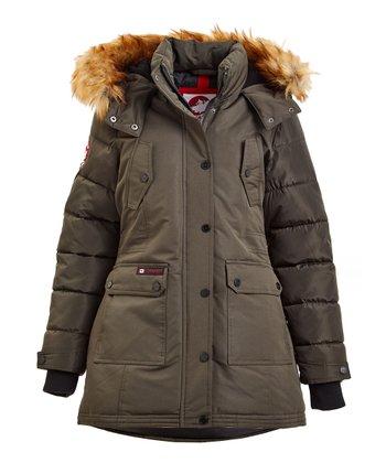 Gear Fur Faux Canada Weather Hooded Puffer CoatsZulily 4A53RjL