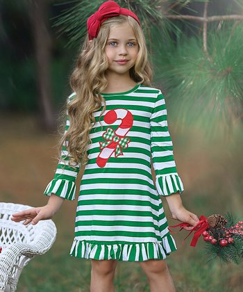 Pictures Girls Monogrammed Red Stripe Christmas Tree Pocket Dress Girls Holiday Dress Christmas Program Dress Toddler Christmas Dress