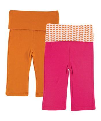 1c48277871 Orange & Pink Sweatpants Set - Newborn & Infant