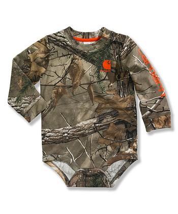 Dark Brown Woodland Camo Realtree Xtra® Bodysuit - Infant 4ef4a54e2ad8