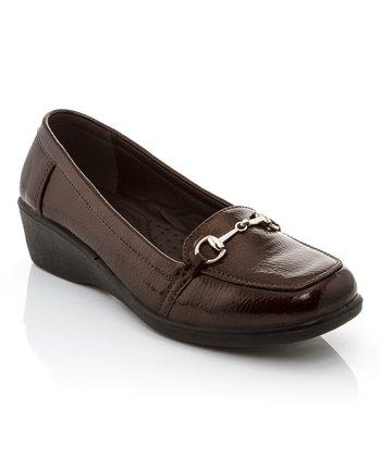 efecebb76dd5 Brown Patent Joy Horsebit Loafer Wedge - Women
