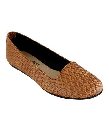 bb51c6d3d0a Brown Lattice Edge Flat - Women