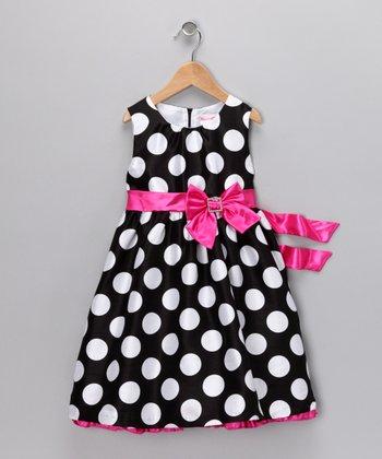 69fad4218ca4 Black & White Polka Dot Dress - Infant & Toddler