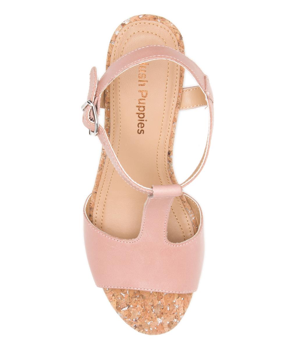 54b30c5f4e082 Hush Puppies Pale Peach Leather Pekingese T-Strap Sandal - Women ...
