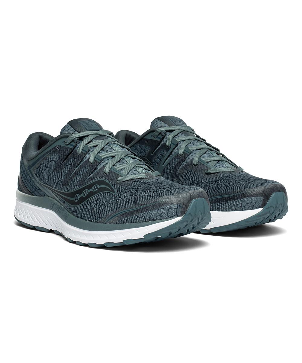 Saucony Men's Running Shoes STE/QUA - Steel & Aqua Guide ISO 2 Running Shoe - Men