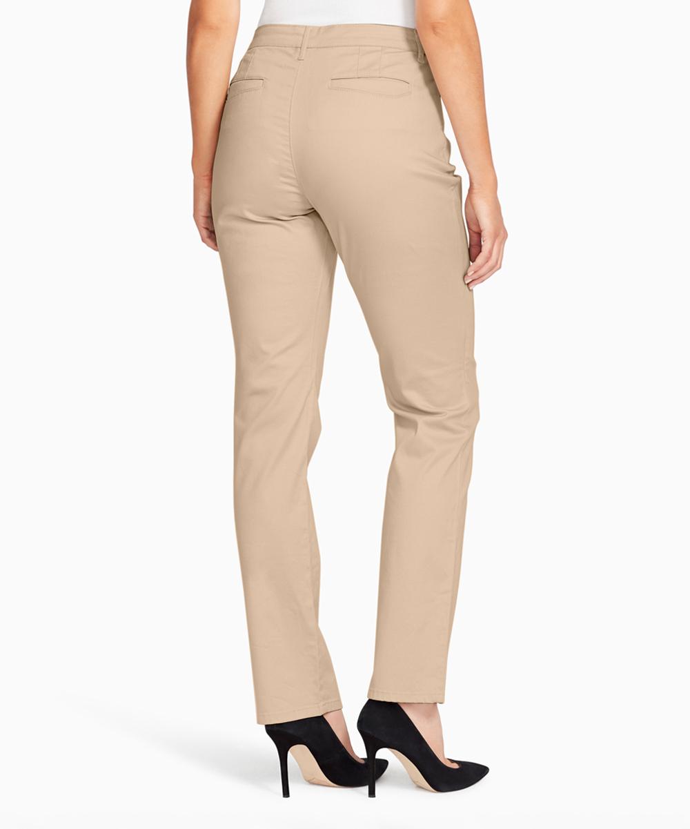 e3b9b357f74 Gloria Vanderbilt Perfect Khaki Anita Straight-Leg Jeans - Women ...