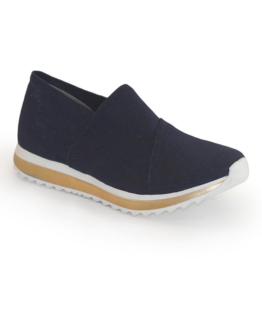 Charleston Shoe Co. Women's Walking Shoes NAVY - Navy Athena Slip-On Shoe - Women