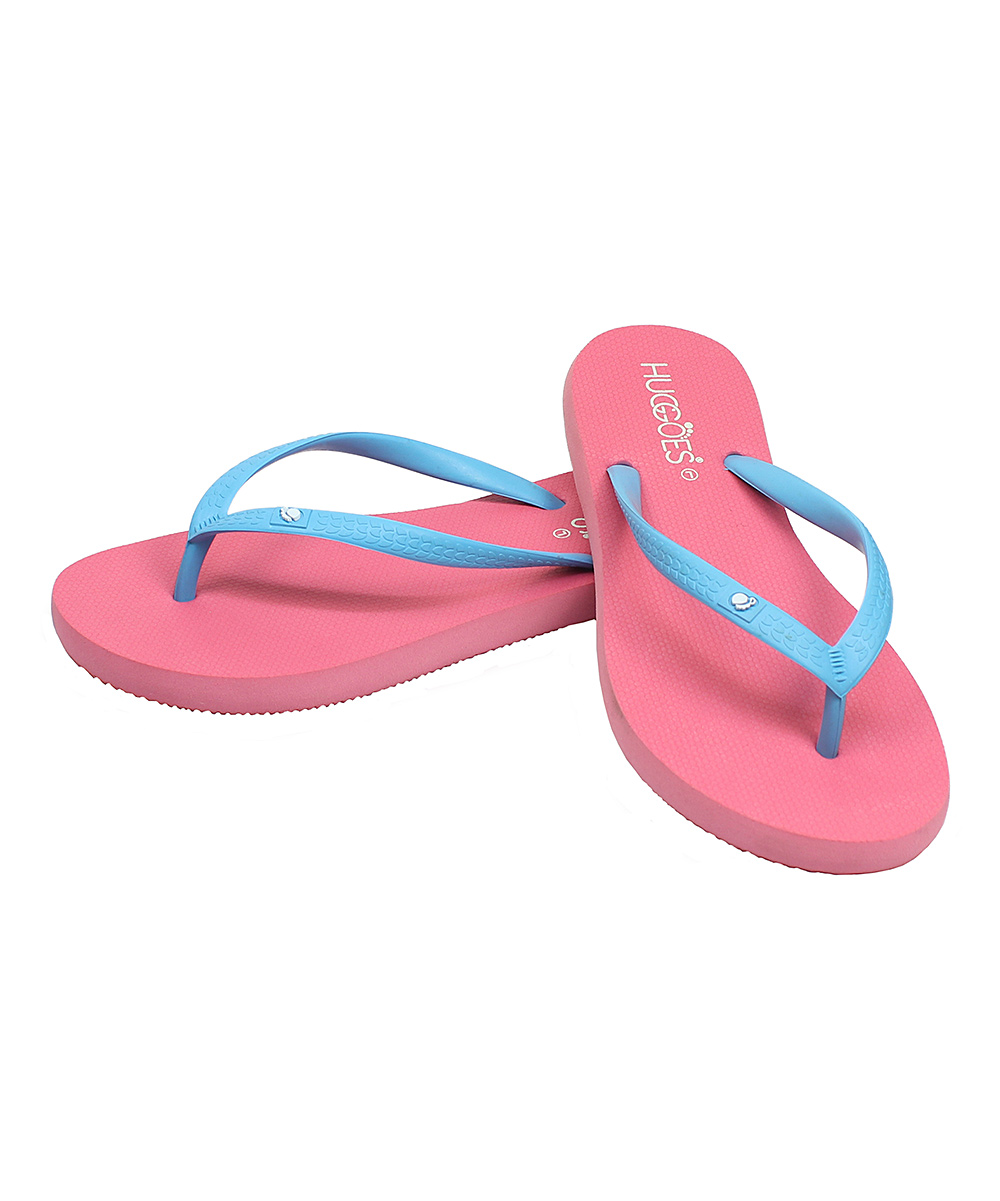 8ba1bcabfe3 HUGGOES Pink & Light Blue Flip-Flop - Women