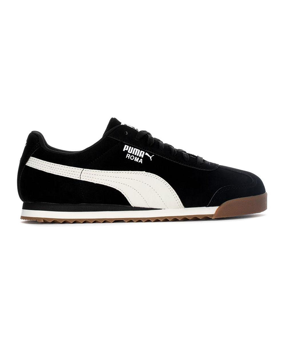 PUMA Men's Sneakers Puma - Black & Whisper White Roma Smooth Sneaker - Men