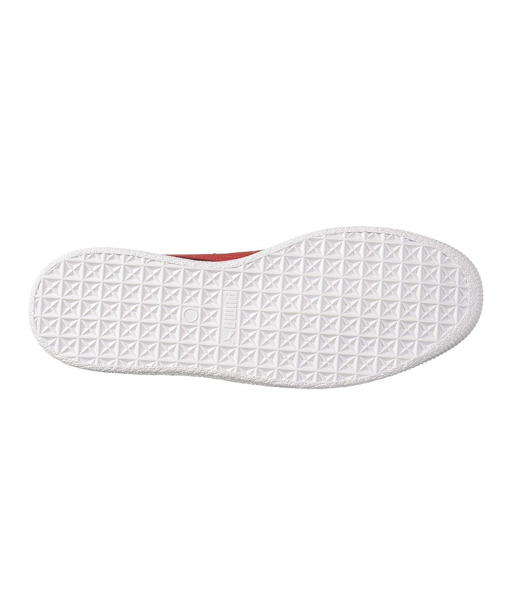 fac5e7a6 PUMA Black & High Risk Red Clyde Core Leather Sneaker - Men