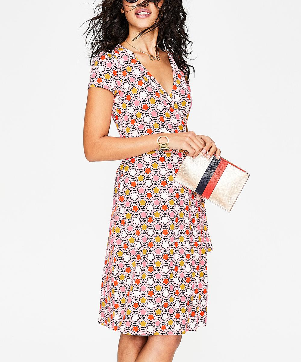 a44e8057945 Boden Pink Frosting Floral Summer Wrap Dress - Women